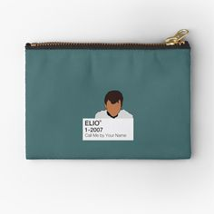 'Call Me by Your Name - Elio' Zipper Pouch by fictiophilia Fandom Outfits, You Deserve It, Your Name, Sell Your Art, Gifts For Family, Zipper Pouch, Call Me, Coin Purse, Names