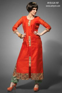 New stylish kurti neck designs for women - ArtsyCraftsyDad Salwar Neck Designs, Kurta Neck Design, Dress Neck Designs, Kurta Designs Women, Blouse Designs, Salwar Pattern, Kurti Patterns, Dress Patterns, Kurti Designs Party Wear