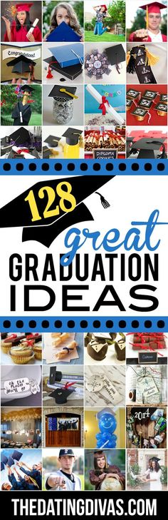 TONS of great graduation ideas- everything from graduation cards and grad gifts to graduation parties and pictures. www.TheDatingDiva...