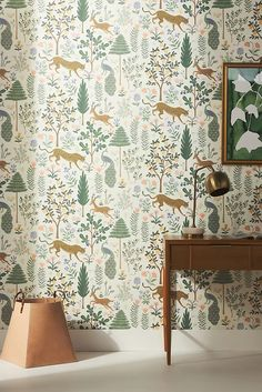Wallpaper | Anthropologie Unique Wallpaper, Nature Wallpaper, Of Wallpaper, Spring Home, Autumn Home, Country Farmhouse Exterior, Rifle Paper Co, Ceiling Height, Home Collections