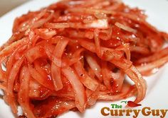 How To Make That Red Onion Chutney That Restaurants Serve With Papadams With Onions, Ketchup, Tomato Purée, Chili Powder, Cumin Seed, Salt