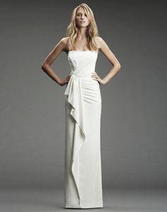 Simple modern wedding dress by Nicole Miller