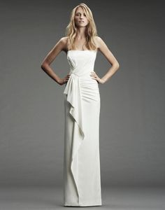 Simple modern wedding dress by Nicole Miller