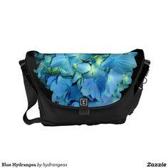 Blue Hydrangea Courier Bag http://www.zazzle.com/hydrangeas*