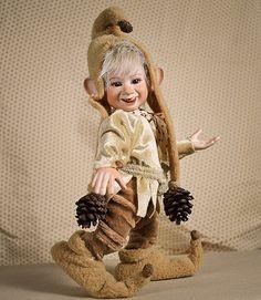 Cute goblin art doll, Pongrác manó full body porcelain ball jointed doll by LegendLand Dolls
