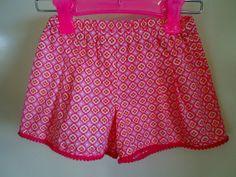 Girl's Pom Pom Shorts  size 2. Elastic waist. by SweetPoppyKids, $20.00