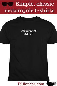 This motorcycle t-shirt confirms what we've always suspected - bikes are totally addictive! Biker T Shirts, Cool Motorcycles, Funny Shirts, Mens Tops, How To Wear, Women, Motorbikes, Women's, Woman