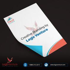 Stationary design for Treat Get. Your Stationary done today. Visit us: www.logoventure.com #Stationary #Letterhead #marketing #design #Branding #LogoVenture