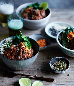 Recipe for rice bowl with braised oxtail and mole rojo by Rough Rice in Hobart, Tasmania.