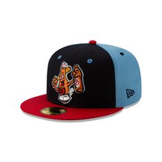 Celebrate MiLB Theme Nights with the Salem Red Sox Beer Mongers Fitted Cap! The cap features an embroidered Beer Mongers logo at the front panels and an embroidered MiLB Batterman at the rear. Fresno Grizzlies, New Era Fitted, Minor League Baseball, New Era Hats, New Era 59fifty, Fitted Caps, Mens Caps, Snapback Cap, Headgear