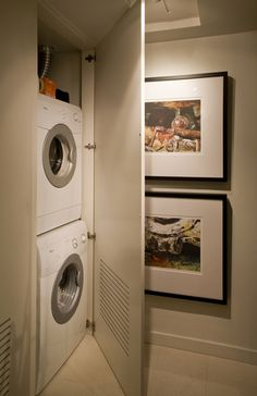 Stackable Washer And Dryer In Closet