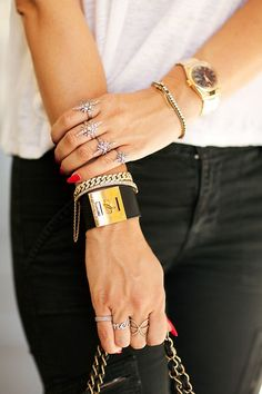 Hermes cuff, rings, watch... all of it!