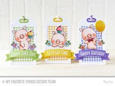 Creative Construction with Blueprints – Birthday Tags