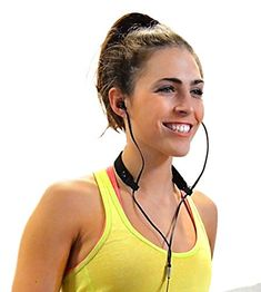 BudStraps Flexible Earbud Neck Strap for Running, Golf, Hiking (Flex – Black Strap/Black Clips) Retainer, Cord Manager  Sweat-wicking material (poly/spandex blend) Custom made Italian fabric for cyclists for long rides Holds flat and round earbud cords tight during runs and rides