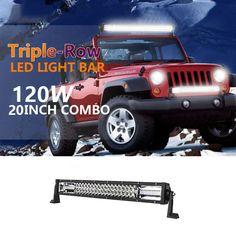 SUV Senlips 4x 18W Flood Beam Led Work Light Bar IP 67 Waterproof for Off-road Vehicle Boat- Black 4WD Jeep ATV UTV Led Light Bar