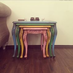 Colorful nesting table Zigon sehpa