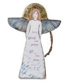 Look what I found on #zulily! 'Every good and perfect gift' Angel Ornament #zulilyfinds