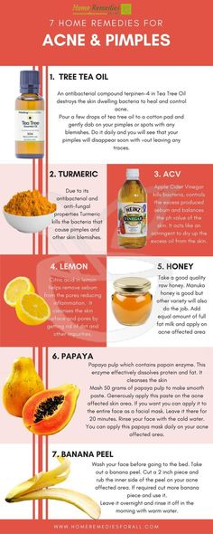 You can get rid of your pimples with these simple but very effective home remedies for acne. #TreatmentsforAcneRemoval
