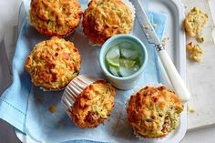 Looking for tasty lunchbox fillers? Explore our favourite lunchbox treats featuring easy banana bread, freezable zucchini slice, gooey chocolate caramel slice and deliciously easy mac & cheese cups. Zucchini Muffin Recipes, Zucchini Muffins, Vegetable Muffins, Zuchinni Recipes, Savory Muffins, Healthy Muffins, Savory Snacks, Zucchini Breakfast, Breakfast Muffins