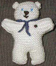 teddy knitted to take to church