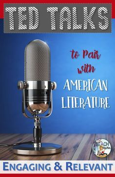 Do you want to enhance your teaching of American Literature? Then use TED talks to teach valuable listening skills and make connectio.used with hyper docs Teaching American Literature, High School Literature, Ap Literature, High School Reading, Literature Circles, Education English, Teaching English, Teaching Spanish, English Lessons