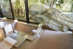 "John Lautner, ""Elrod House"", 1968, Palm Springs, FL, USA. I always liked houses that had big rocks coming inside."