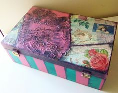 box, decoupage, stencil,