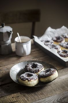 no-egg chocOlate fondant donuts