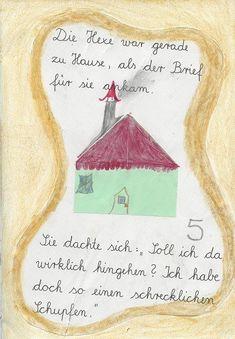 Selbstgemachtes Lesebuch - 2. Klasse Preschool, Writing On Chalkboard, Stories For Children, First Grade