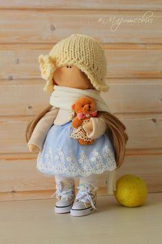 Glamur doll-Handmade Doll-Textile Doll-Fabric by GlamurDoll
