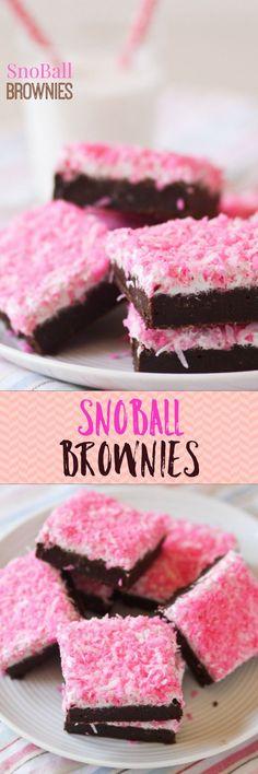Snoball brownies -- hands down my all-time favorite brownies!