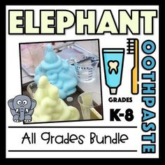 This bundle includes all 3 different grade level versions of the Elephant Toothpaste Experiment. K-2 focuses on the scientific method Grades 3-5 focuses on physical and chemical reactions Grades 6-8 - focuses on chemical reactions Great resource if you teach multiple grade bands! Scientific Method Experiments, Science Experiments, Elephant Toothpaste Experiment, Chemical And Physical Changes, Chemical Equation, Chemical Reactions, Physical Science, Student Learning, Physics