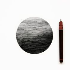 visualgraphc: Ink drawing made of dots by Pet & Dot Instagram: @pet_and_dot Facebook. Esfera hecha con plumilla, y degradado