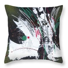 Throw Pillow featuring the painting Nature Abstract - I by Rupam Shah