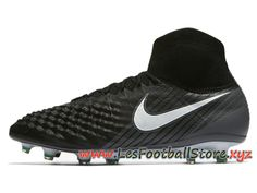 wholesale dealer e945f aab43 Nike Magista Obra Ii Fg Chaussure De Football à Crampons Pour Terrain Sec  Noir Blanc 844595