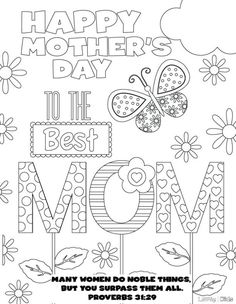 20 Beautiful Free Mothers Day Printables Coloring PagesMothers