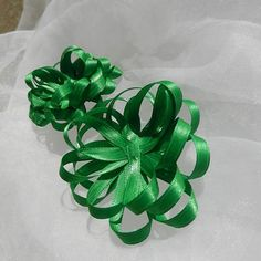 Green Satin Gift Bows by beautifulswagstore on Etsy, $2.80