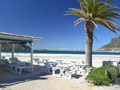 NBNB Dunes at Hout Bay beach. Photo courtesy of the restaurant. Africa Travel, Cape Town, Marina Bay Sands, Seaside, South Africa, Places To Go, Beautiful Places, Patio, Activities