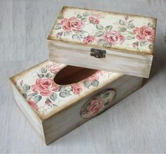 Handmade-wooden-box-Jewelry-box-Wooden-storage-Shabby-chic-style