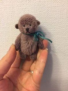 Teddy Violet By Natasha Leonova  - Teddy Violet is sewn of purple Alpaca, stuffed sintepuh, movable on 5 cotter pins, eyes of glass, embroidered nose.