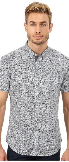 7 Diamonds Future Reflection Top (Slate) Men's Short Sleeve Button Up - 7 Diamonds, Future Reflection Top, SMK-5053-025, Apparel Top Short Sleeve Button Up, Short Sleeve Button Up, Top, Apparel, Clothes Clothing, Gift, - Street Fashion And Style Ideas
