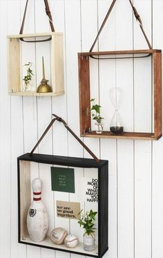 Three Leather Belt Shelves- 23 Creative Projects With Old Leather Belts | DIY to Make