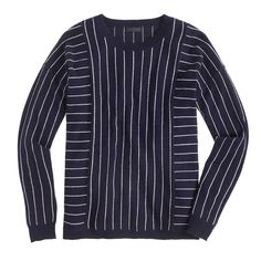Collection cashmere sweater in pinstripe : Patterned | J.Crew