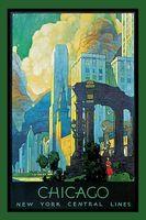 Город чикаго World Travel Пропаганды Старинные Крафт Декоративные Плакат DIY…