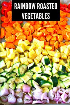 These roasted vegetables are both colorful and delicious! Enjoy a rainbow on your plate with this tasty recipe for fall. #roasted #vegetables #rootvegetables #autumn