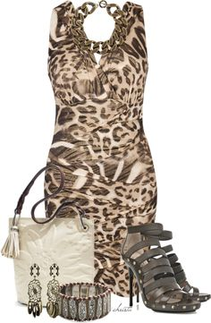 A fashion look from March 2013 featuring v neck dress, jimmy choo shoes and cotton handbags. Browse and shop related looks. Edgy Outfits, Fashion Outfits, Nice Outfits, Hot Outfits, Dress Outfits, Fashion Ideas, Mode Collage, Diva Fashion, Womens Fashion