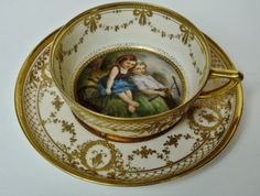 ** Šálek na čaj - porcelán ♣ Dresden **