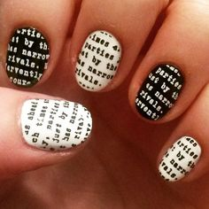 lets talk.. newspaper nails by @megsnails on instagram, using MM24