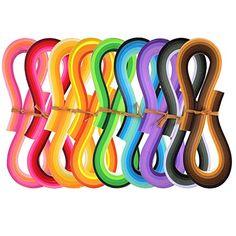 42 Farben, Breite 3mm Juya Papier Quilling Set 54cm L/änge Bis zu 42 Shade Farben 6 St/ück