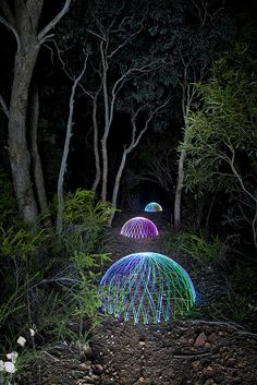 """Painting with Light: Long Exposure Photography """"Breadcrumbs"""" Light Painting Photography, Motion Photography, Photography Projects, Artistic Photography, Exposure Photography, Nature Photography, Night Time Photography, Interactive Exhibition, Laser Art"""